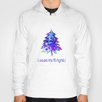 christmas tree Hoodies featuring Christmas Tree by tscreative