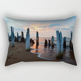 Pillars of the Past at Dusk Rectangular Pillow