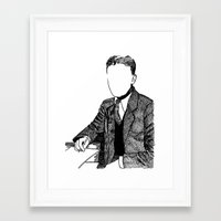 fitzgerald Framed Art Prints featuring F. Scott Fitzgerald by AlphaVariable