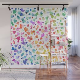 Melting hearts - Multicolored love Wall Mural