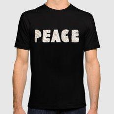 peace 1 Mens Fitted Tee Black MEDIUM