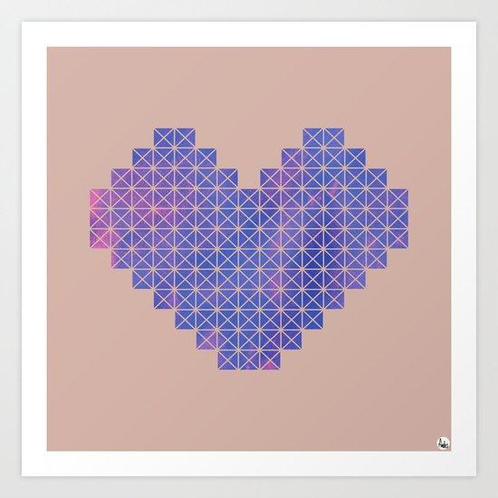Heart X Purple Art Print