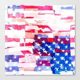 Messed Up American Flag Canvas Print