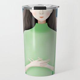 Peace Flower Girl Travel Mug