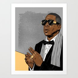 "Jay Z - ""Grey Hova"" Art Print"