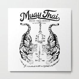 Muay Thai Tattoo Metal Print