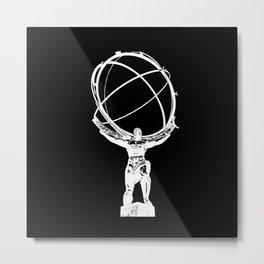 Atlas // Black Metal Print