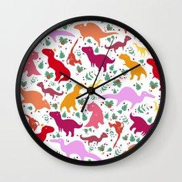 Dinosaur Pattern - Little Carnivores  Wall Clock