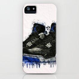 Jordan 4 Splatter iPhone Case