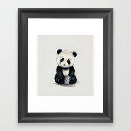 Tea Panda Framed Art Print