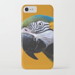 Macaw Parrot Photography   Exotic Bird   Tropical   Turquoise   Yellow   Art Print iPhone Case
