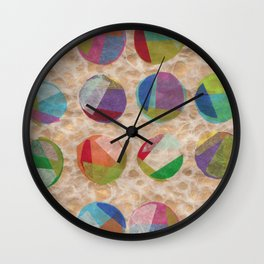 Layered Dots Wall Clock