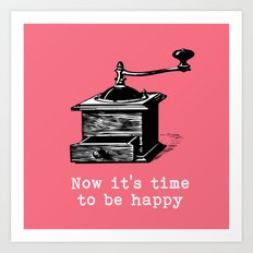 Music- Time to be happy vintage inspired Art Print