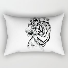 Lady Tiger in the Trees Rectangular Pillow