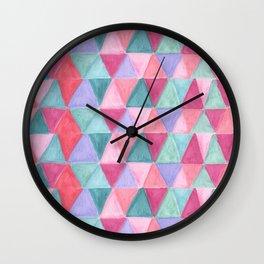 pastel triangle pattern Wall Clock