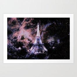 Paris Dreams Peach Mauve Lavender Art Print
