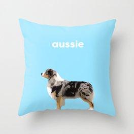 #Australian Shepherd #2 Throw Pillow