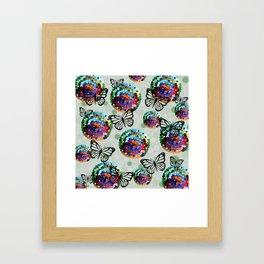 Butterfly Colour Framed Art Print