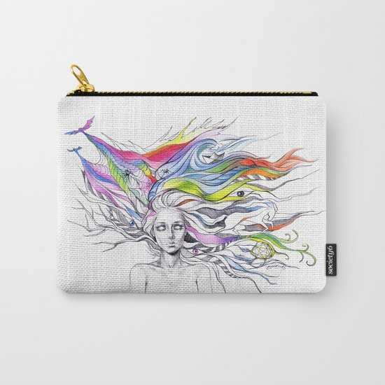 Dreams are made winding through her hair Carry-All Pouch