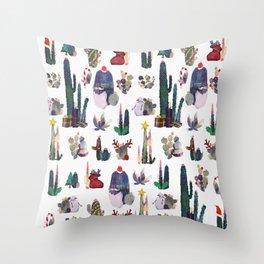 Christmas cactus Throw Pillow