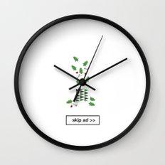 christmas ad Wall Clock