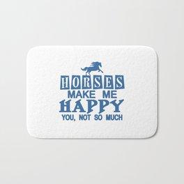 Horses Make Me Happy Bath Mat