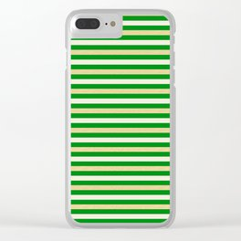 Green and Golden Horizontal Clear iPhone Case