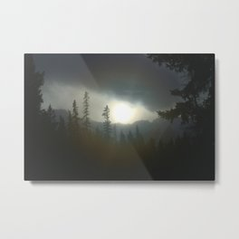 Banff In The Mist Metal Print
