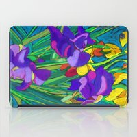 iris iPad Cases featuring Iris by marlene holdsworth