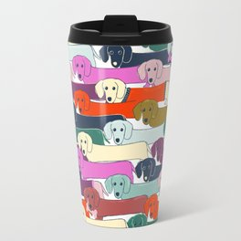 colored doggie pattern Travel Mug