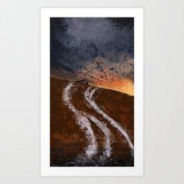 And the Sun Set Art Print