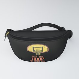 Basketball Net May The Hoop Be With You Fanny Pack