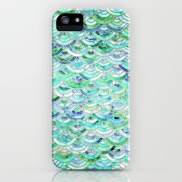 Marble Mosaic in Mint Quartz and Jade iPhone Case