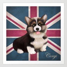 Royal Corgi Baby Art Print