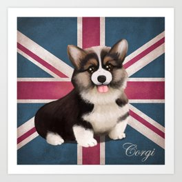 Royal Corgi Baby Art Print