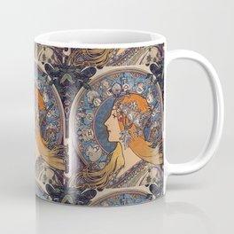 """Alfons mucha ,"""" Zodiac """" Coffee Mug"""