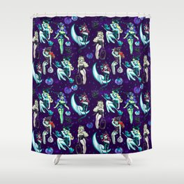Witches and Black Cats Shower Curtain