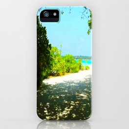 Maldives -  Beach Path iPhone Case