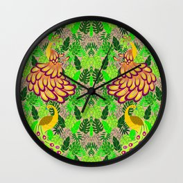 PECOCK PATTERN Wall Clock