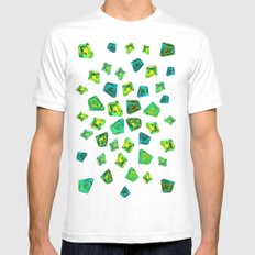 Green beautiful hand drawn gems. Mens Fitted Tee MEDIUM White