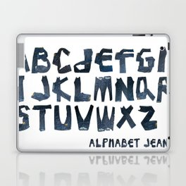 ALPHABET JEAN Laptop & iPad Skin