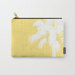 Palm Silhouettes On Yellow Carry-All Pouch