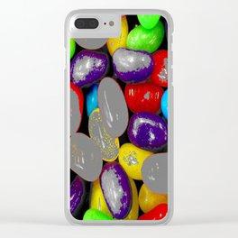 Spray grey Clear iPhone Case
