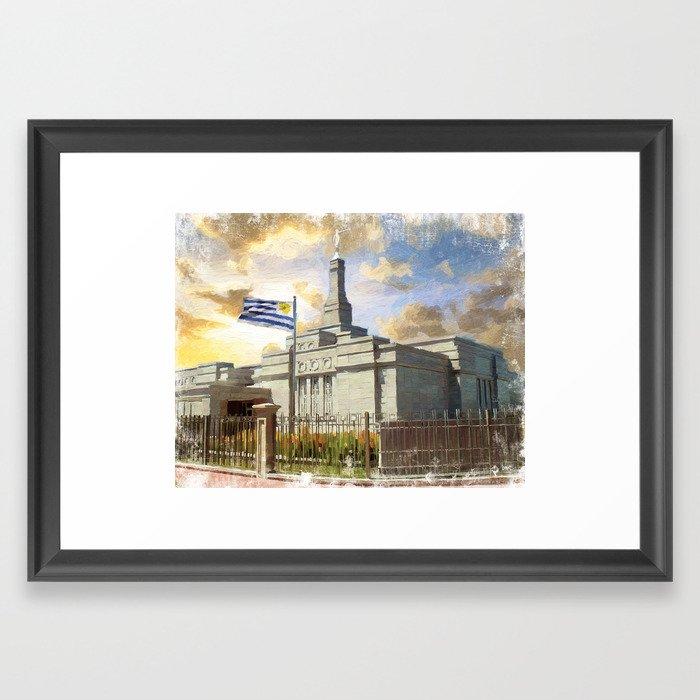 Montevideo Uruguay LDS Temple Framed Art Print by brentknudson ...