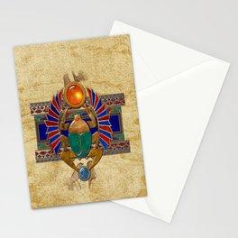 Sarcophagus 3d Egyptian Folk Art Stationery Cards