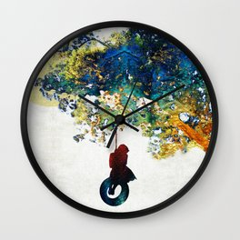 Colorful Landscape Art - The Dreaming Tree - By Sharon Cummings Wall Clock