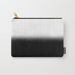 Black White Split Fade Carry-All Pouch