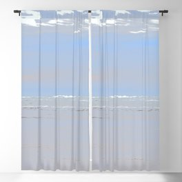 Illustrated Haystack Rock Blackout Curtain