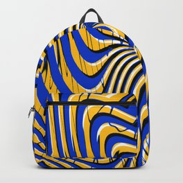 Royal Golden Psychedelic Print Backpack