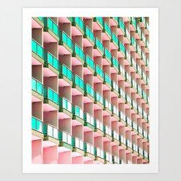 Pastel Repetition Art Print